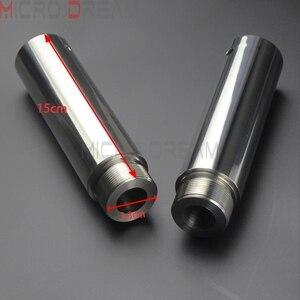 Image 1 - 1 ペアクロームオートバイフォークチューブは 5 インチ延長 harley dyna fxd スポーツスター XL1200 XL883 39 ミリメートルフォークチューブ