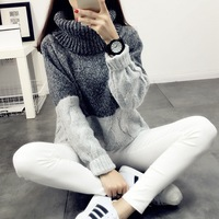 High Lead Sweater Woman And Korean Easy Clothes New Pattern Tide Pullover Student Loose Coat Thickness