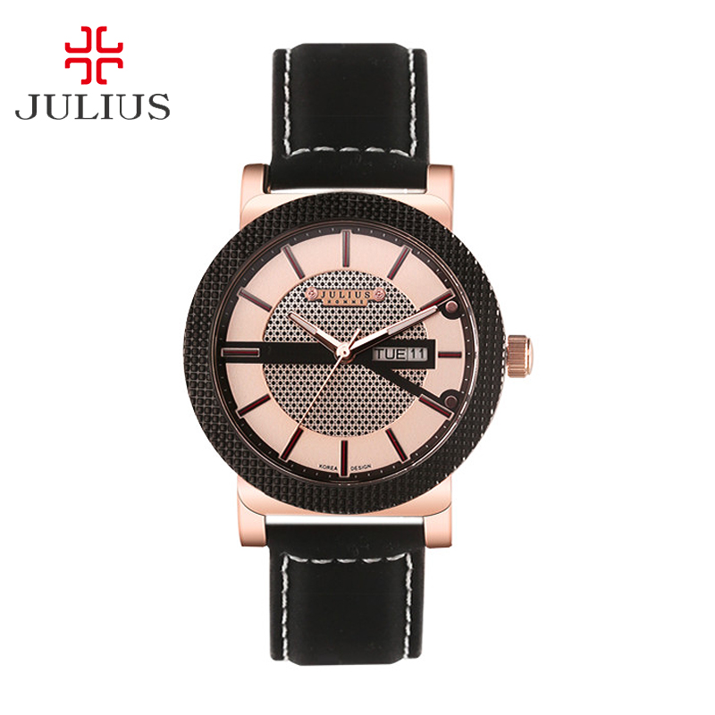 Julius Homme Man Wrist Watch Quartz Hours Top Fashion Dress Bracelet Leather Boy School Birthday Christmas