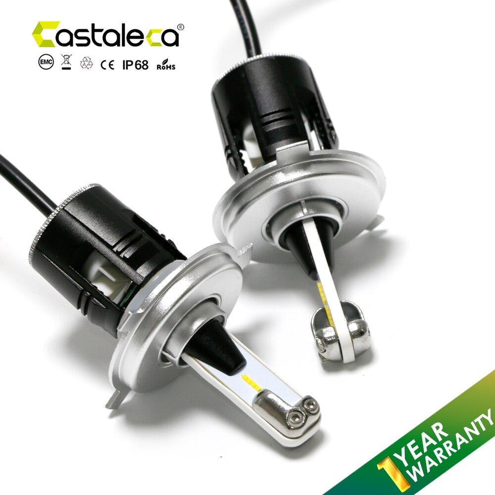 Castaleca H4 LED lampe Auto pour Kia Rio 2001-2017 dédié 6000 K H4/9003 salut/Lo faisceau voiture phare LED 1 an de garantie DC 12 V