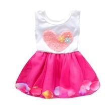 Kids Girls Summer Dress Princess Party Flower Tutu Dress Clothes 0-4Y