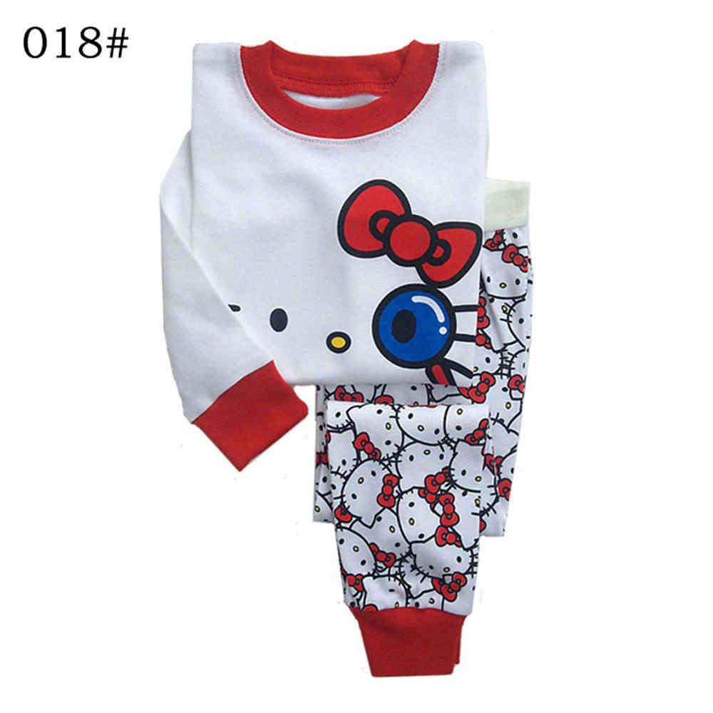 b84edd158 ... Toddler Kids Girl Pyjama Hello Kitty Baby Girl Clothes Set 2016 Infant  Pajamas Set Sleepwear Tops ...