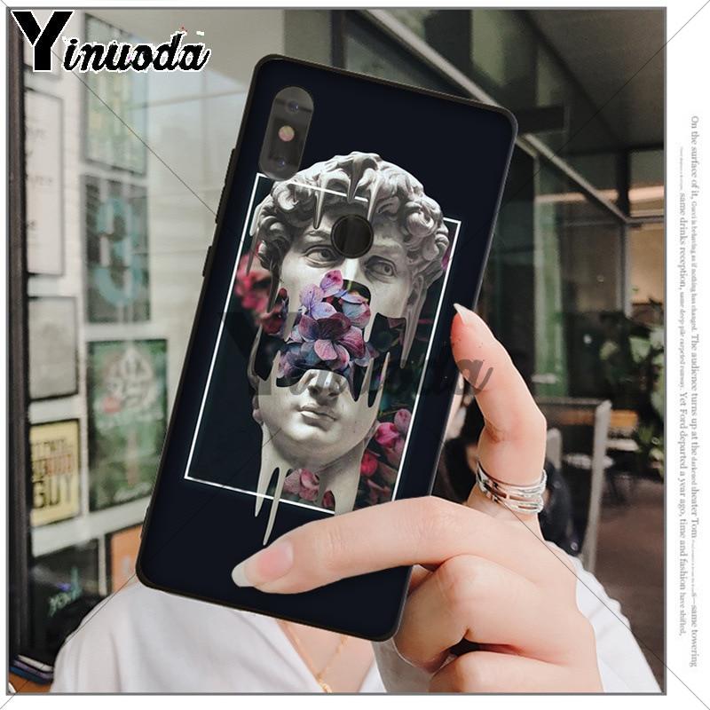 Yinuoda D'art Vintage David Statue illustration  Phone Case for xiaomi mi 6  8 se note2 3 mix2 redmi 5 5plus note 4 5 5