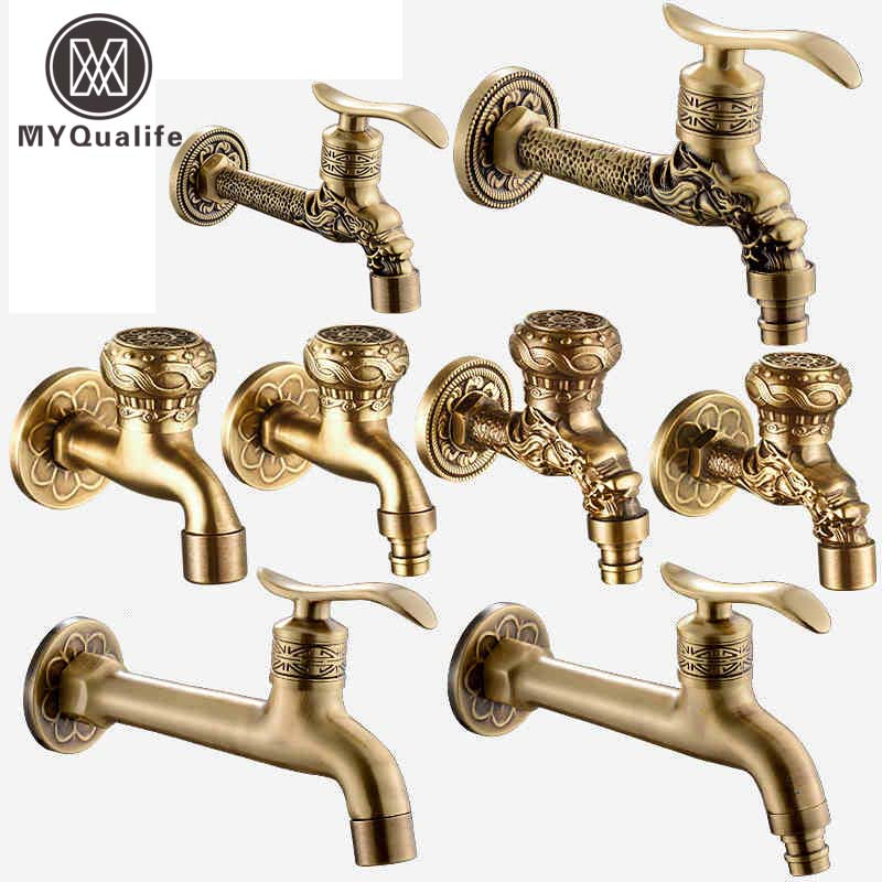Decorative Outdoor Faucet Garden Bibcock Tap Bathroom Washing Machine /mop Faucet Free Shipping