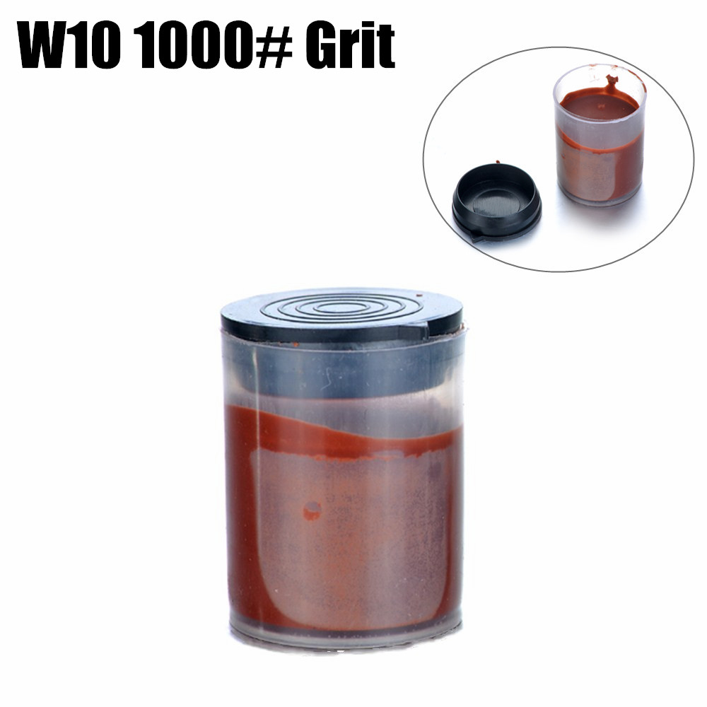 W10\1000# Grit Metal Polishing Paste Red Color Abrasive Grinding Paste For Polishing Wheel Electric Rotary Tool With Bottle