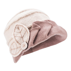 Image 5 - Kadın kış şapka yaprakları dantelli etkisi yün bere şapkalar kadınlar için Cloche kova şapka bayanlar şapkalar sonbahar kış Skullies kap A375