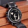 Personalized Customize Watch Men Engraved Wristwatch Wood & Stainless Steel Band Anniversary Gift Birthday Gift erkek kol saati 2