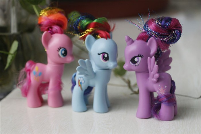 6pcs/lot Little Horse PVC Action Figure Vinyl Doll Limited Edition boneca Toys Collcetion Model Kids Toys Best Gifts 14cm pony toys horse unicorn pet in action figure colorful different styles doll kids toy model pvc doll for girls gift