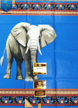 LIULANZHI royal blue fabric wax 6yards nigerian cotton cute Elephant pattern party dresses 6 yards TJ245-260