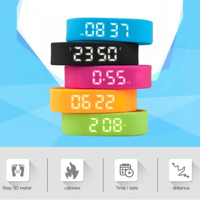 3D T5 LED Display Sports Gauge Fitness Bracelet Smart Step Tracker Pedometer new arrival