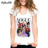 VOGUE Punk Princess Printed T Shirt 2018 Summer Style Fashion Women T-Shirt funny Harajuku short sleeve casual tees lovrly tops