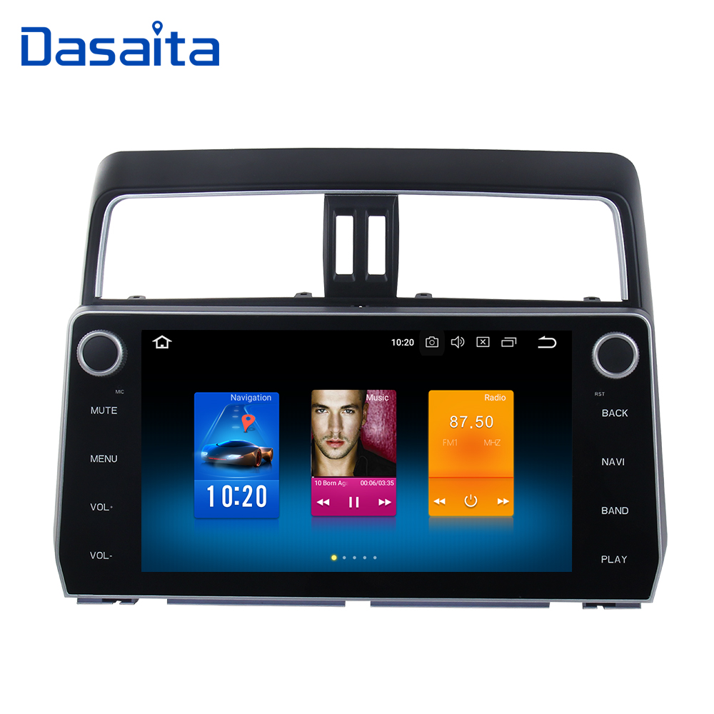 10.2 2 Din Car Android Radio GPS Android 8.0 for Toyota New Prado 2018 MP3 4G 32G Octa Core