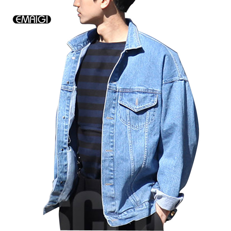 1633f0b91528 Men s Vintage Denim Jacket Coat men Fashion Loose Jackets Outerwear  clothing men punk jean jacket