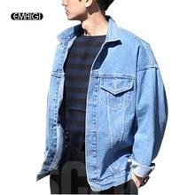 Männer vintage denim jacke mantel männer mode lose jacken oberbekleidung clothing männer punk jean jacke