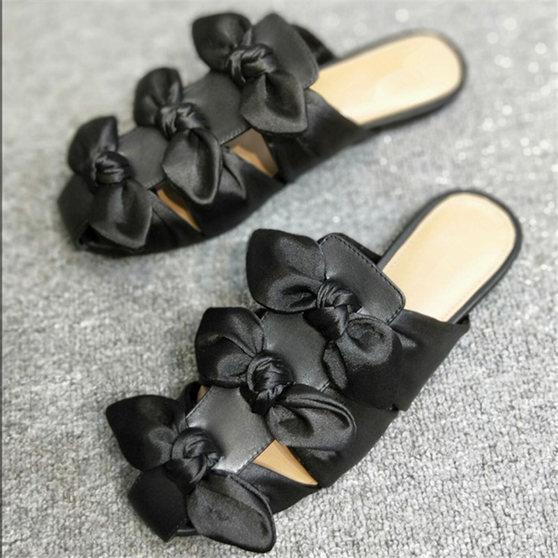 De Découpe Décontracté Pic as As Chaussons Zapatos Mujer Soie Mules noeud Blanc Pour Femme D'été Chaussures Papillon Designer Femmes Pic Appartements UwqO6n1U8