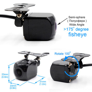 Image 4 - XCGaoon CCD 180 degree Fisheye Lens Car Camera Rear View Wide Angle Reversing Backup Camera Night Vision Parking Assist