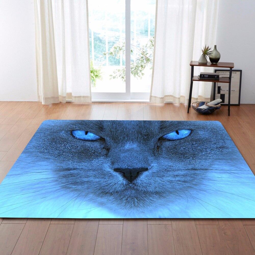 Tapis de décoration de fête de noël 3D tapis de chat charmant tapis de jeu de chambre d'enfants tapis de zone de mousse de mémoire de flanelle pour le salon