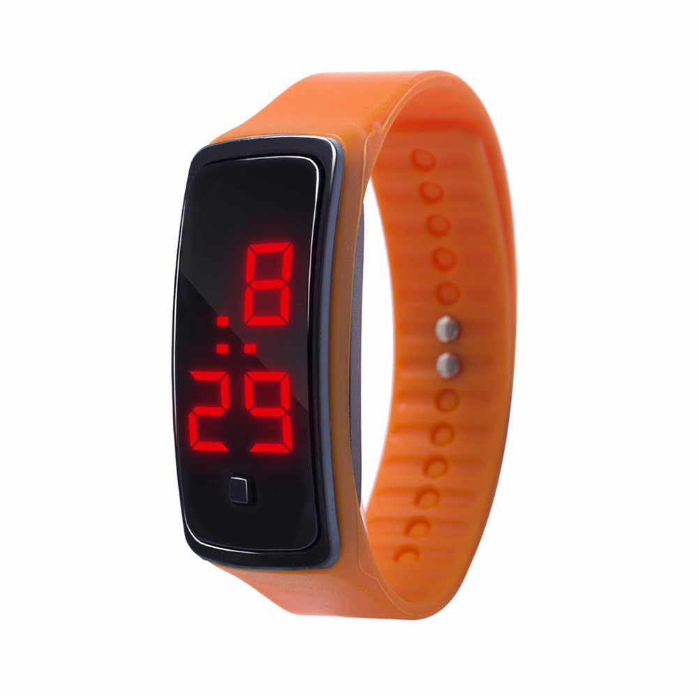 LED affichage numérique Bracelet montre enfants étudiants Gel de silice montre de sport montre électronique montre numérique mode gif hommes