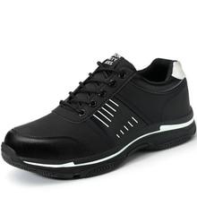 Мужская модная дышащая обувь со стальным носком; Рабочая безопасная обувь; сезон весна-осень; Мужская безопасная обувь из натуральной кожи; большие размеры