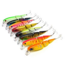 Brand 10.5cm 14g 3 Sections Minnow Fishing Tackle Lure Floating Hard Bait Magnet Wobbler Swinger Boilies Jerk Jointed Cheap Fish