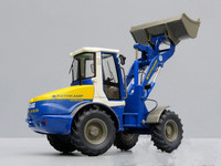 Rare Toy Model NZG 1:50 Atlas Weyhausen AR 95 Wheel Loader Engineering Machinery Diecast Toy Model for Collection,Decoration