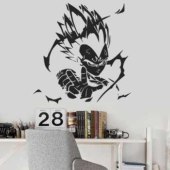 Vegeta Anime Vinyl Wall Decal Home Decoration Dragon Ball Z Character Wall Poster Removable Car Window Vinyl Sticker Art AZ832 1
