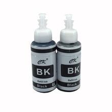 CK 2PK Black Refill Ink Compitable for Printer Epson L120 L132 L210 L222 L300 L355 L350 L362 L366 L550 L555 L566 2BK Dye Ink Kit