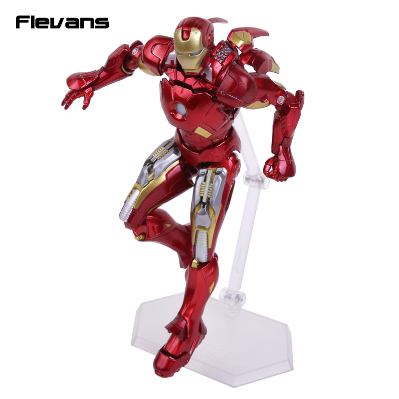 Iron Man Figma EX-018 Mark VII Full Spec ver. PVC Action Figure Collectible Toy 16cm 14cm super sonico supersonico movable figma figma ex 023 pvc action figure collectible model toy children toy gift with box