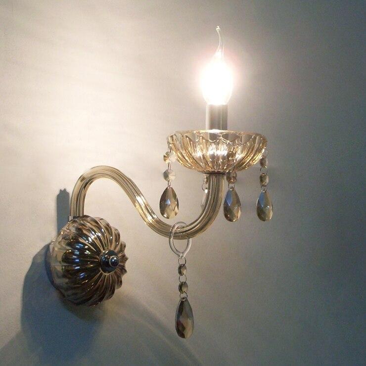 Weihnachten! Cognac Vintage Kristall Wandleuchten Licht mit ...