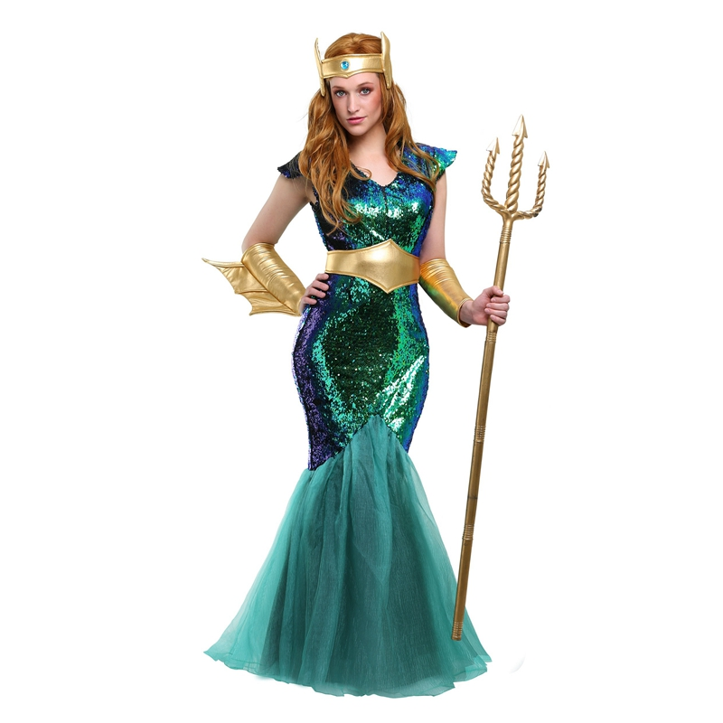 Beautiful Iridescent Adult Step Up Mermaid Sea Siren Cosplay Halloween Costume For Womens Rise Up And Rule The Ocean