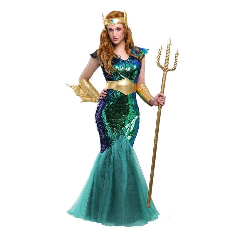 Disfraz de Halloween disfraz de sirena de mar para adultos
