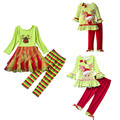 girls fashion clothing sets 2016 girl set clothes Outfit Christmas Tops Dress+Pants Cartoon Halloween Clothes Sets
