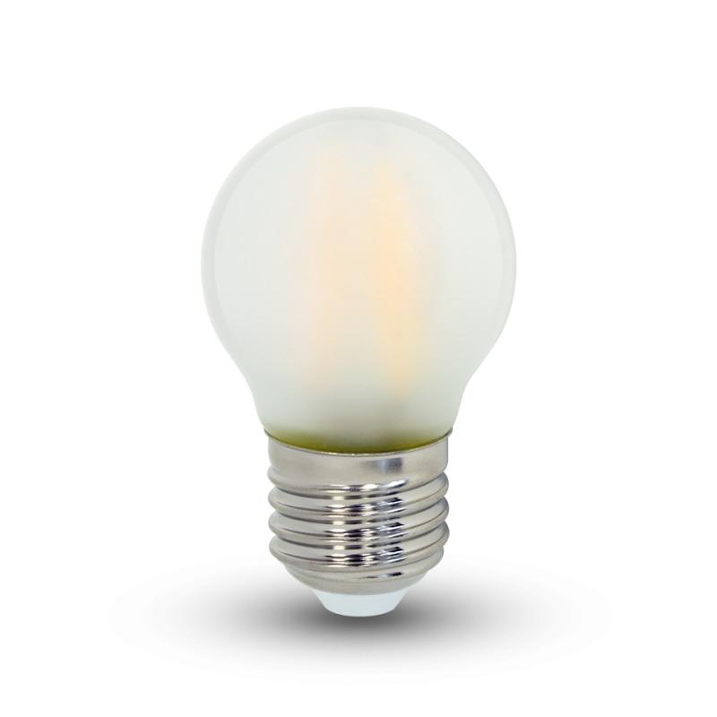 4PCS/lot frosted G45 vintage led filament light bulb 4W E27 2700K