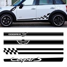 2 шт. Автомобильная Боковая дверь тело Талия наклейка на кузов наклейки отделка для MINI Cooper Clubman Counrtyman F54 F55 F60 R55 R56 R60 аксессуары