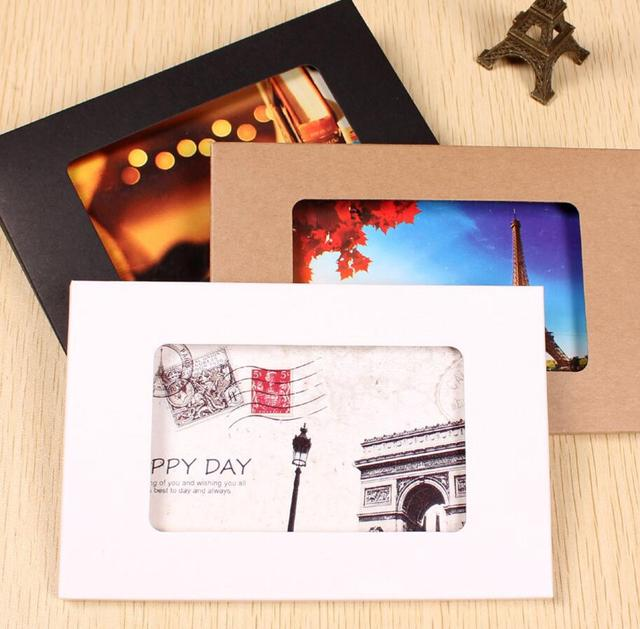 155x102x5mm white kraft paper postcard box foldable photo box with 155x102x5mm white kraft paper postcard box foldable photo box with window diy greeting card packaging display m4hsunfo