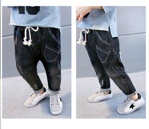 Image 5 - תינוק סתיו מכנסיים 1 3 5 שנים 6 בני ג ינס 2020 אביב ובסתיו ילדים חדשים הרלן מכנסיים גרסה קוריאנית של גאות