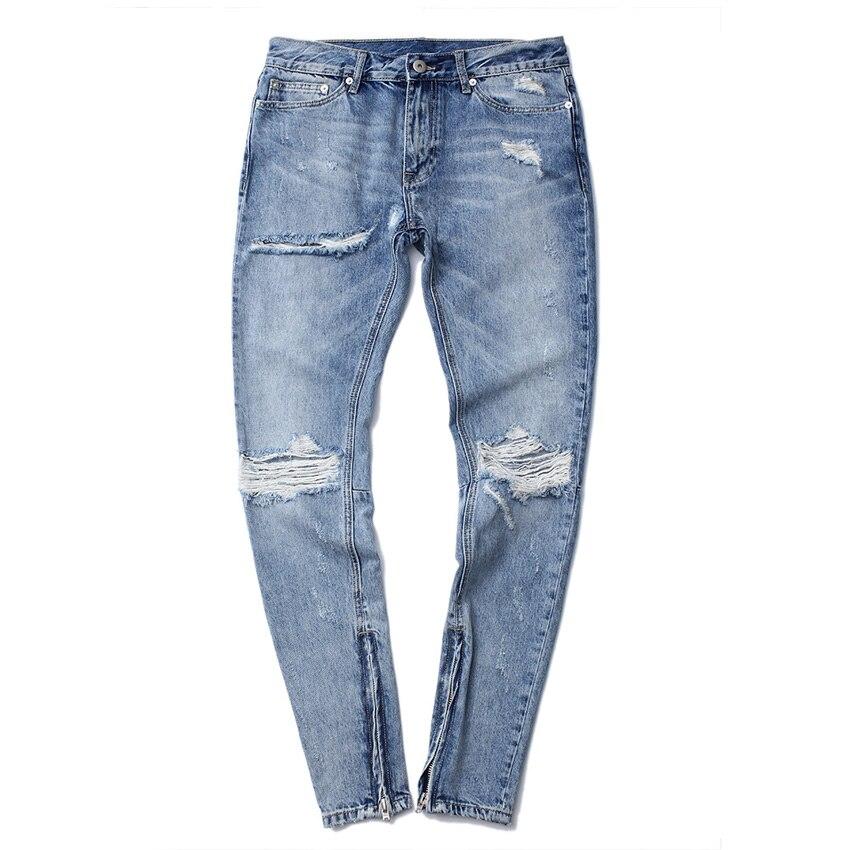 Men's Hip Hop Denim Jean 2017 Autumn New Arrivals Men Casual Fashion Kpop Hole Cotton Ripped Pant Jeans наборы для творчества eastcolight набор для исследований микроскоп и телескоп 35 предметов
