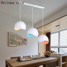 Restaurant chandelier modern light lamp chandelier creative three dining chandelier personality dining room round