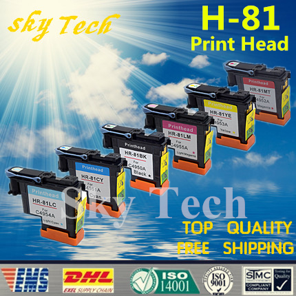 One set 6 pcs Remanufactured Print Head For HP81 For For Hp DesignJet 5000 5500 printer