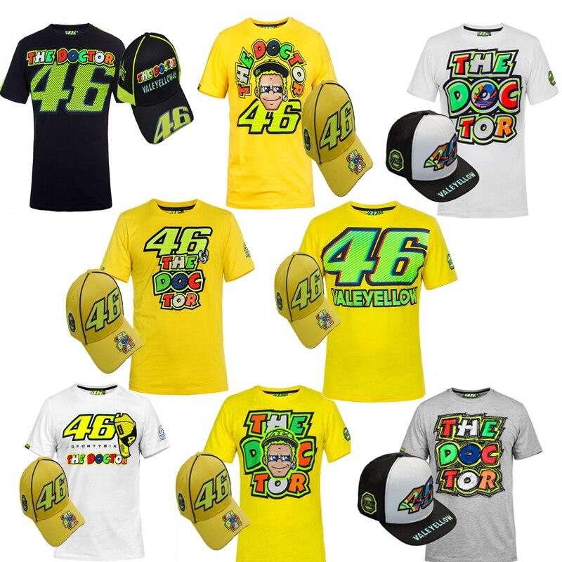 Motorcycle <font><b>T</b></font>-<font><b>Shirts</b></font> With Caps <font><b>Rossi</b></font> Vr46 The Doctor Cotton Tops <font><b>Men'S</b></font> <font><b>Moto</b></font> <font><b>Gp</b></font> Motocross <font><b>Summer</b></font> <font><b>Breathable</b></font> Sports Running <font><b>T</b></font> <font><b>Shirt</b></font>