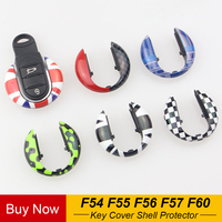 Union Jack Auto Smart Key Case Cover Shell Protector For Mini Cooper JCW F57 F56 F55 F54 F60 Countryman Car Styling Accessories