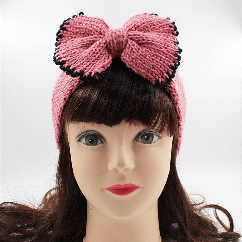Us 169 40 Offhäkeln Bogen Stirnband Für Frauen Mädchen Winter Ohr Wärmer Gestrickte Turban Haarband Wolle Kopf Wrap Turbane Mädchen Haar