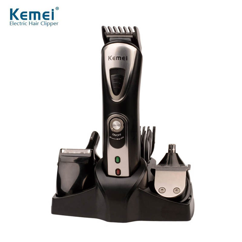 Original Kemei KM-1617 7 in 1 Electric Shavers Razor Nose Ear Hair Trimmer Men Shaving Machine Rechargeable Hair Clipper new brand kemei km a588 electric shavers razor blades travel use safety professional shaver for man maquina de afeitar electrica