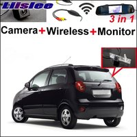 Liislee Car Rear View Camera Wireless Receiver + Mirror Monitor Parking System For Chevy Chevrolet Lacetti Matiz Nubira Pecial