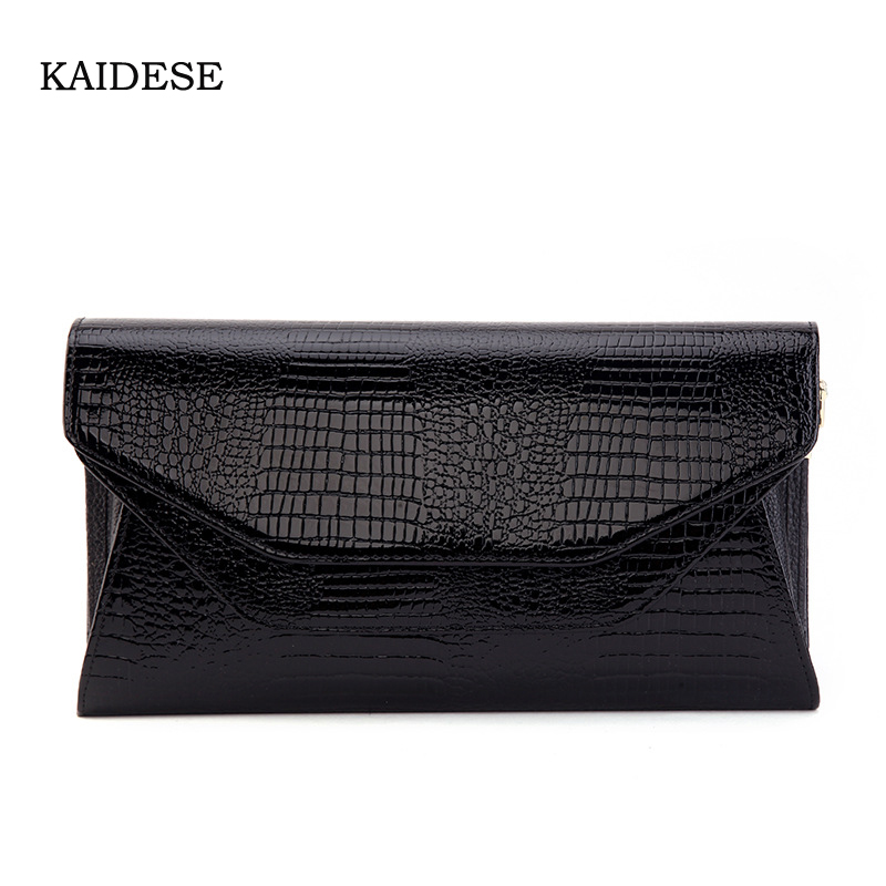 KAIDESE leather handbags female envelope bag 2017 new crocodile skin bag mass fashion hand grasp link package 2018 yuanyu 2016 new women crocodile bag women clutches leather bag female crocodile grain long hand bag