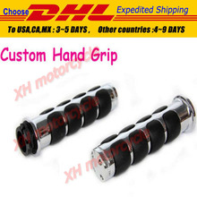 motorcycle partsChrome Custom Handlebar Grips for  Sportster Dyna Softail 1""