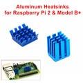 Клей Алюминиевые Радиаторы 1 Компл. 2 ШТ. Радиаторы Кулер Комплект для Raspberry Pi 3/2 Модель B/Raspberry Pi B +
