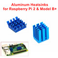 Adhesive Aluminum Heatsinks 1 Set of 2 PCS Heat Sinks Cooler Kit for Raspberry Pi 3 / 2 Model B / Raspberry Pi B+