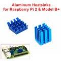 Dissipadores de Calor De Alumínio adesiva 1 Conjunto de 2 PCS de Dissipadores de Calor Kit Refrigerador para Raspberry Pi 3/2 Modelo B/Raspberry Pi B +