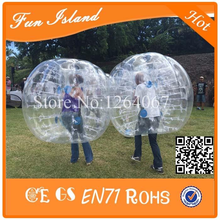 سعر جيد CE قياسي 0.8MM TPU Inflatalbe الإنسان لكرة القدم فقاعة ، فقاعة كرة القدم ، كرات فقاعة للبيع
